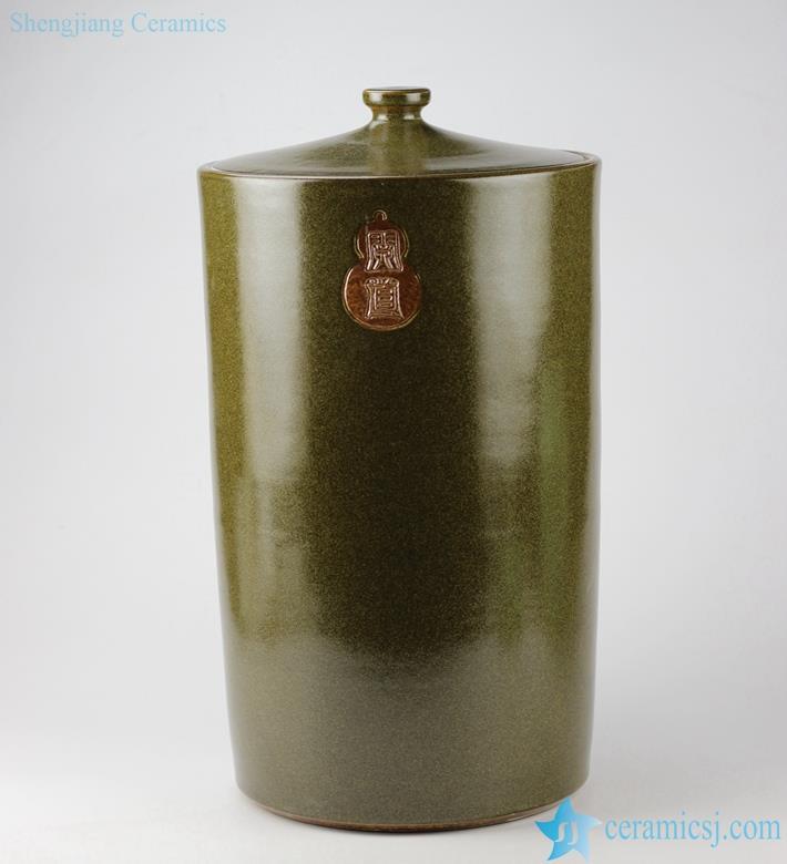 tea dust glaze ceramic preserve jar