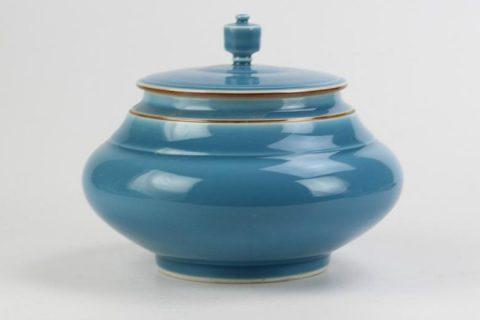 RZJR01 Fancy blue round belly best ceramic jar