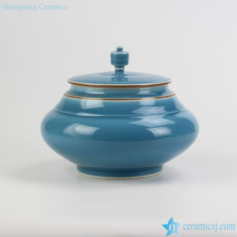 Jingdezhen China big belly jar blue color ceramic