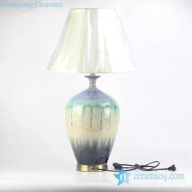 transitional glaze porcelain reading lamp
