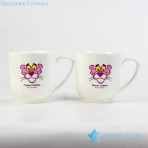 RYDY35 Fine bone china cute coffee cup with customized Pink Panther mark