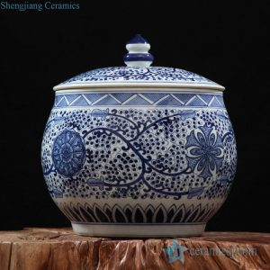 RZFQ07 large capacity household blue and white ceramic jar