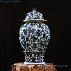 RZFQ11 Hand craft under glaze blue ceramic ginger jar