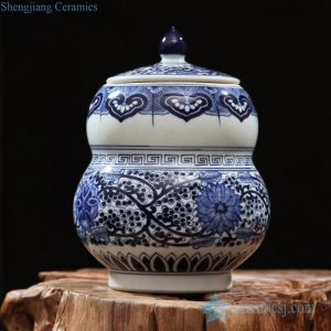 RZFQ20 Under glaze blue Chinese jar antique