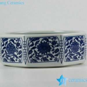 RZFU11-A-C74-01 Chinese floral eight sides porcelain planter
