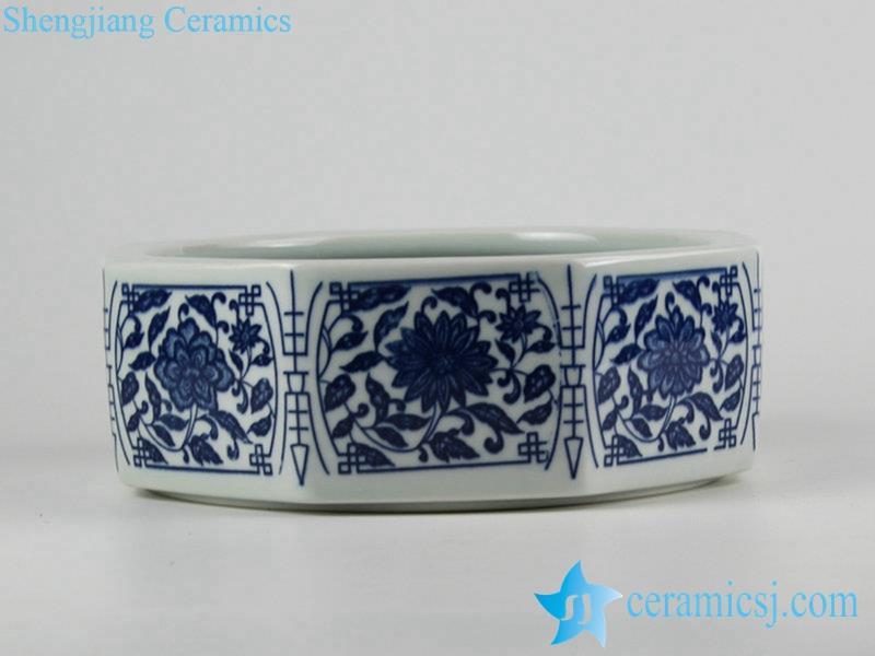 for distributor cheap price 8 sides ceramic planter