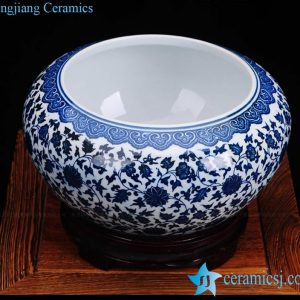 RZFU12 Wholesale supplier low price blue and white ceramic washing rinse pot