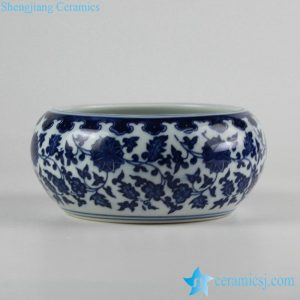 RZFU12-A/B Cheap online price blue and white ceramic floral water pot