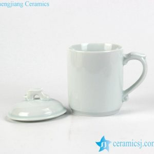 RZIC04 Celadon dragon handle and knob design unique porcelain office daily use water mug