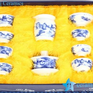 RZIV02 Blue and white landscape pattern Jingdezhen China made tea wares for online Internet exporting