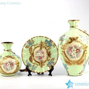 RZJU04 Factory outlet selling on Internet ceramic vase plate home decor set