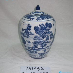 RZKA161032 China style hand paint blue and white candle jar