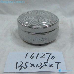 RZKA161270 Hot sale round silver curvy line ceramic ink pad
