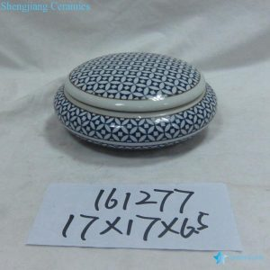 RZKA161277 Blue and white geometric pattern ceramic ink pad