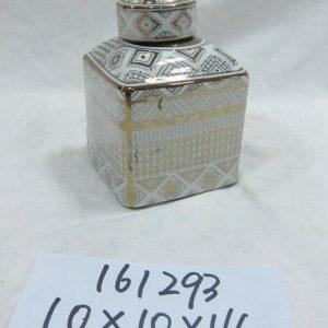 RZKA161293 Irregular shape exotic golden crockery square box