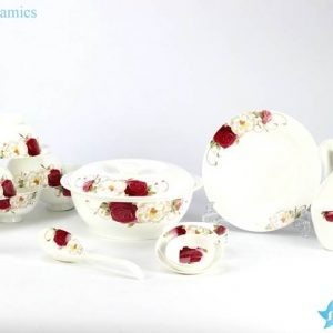 DZ-RZHF03 High quality beautiful floral porcelain dinner ware