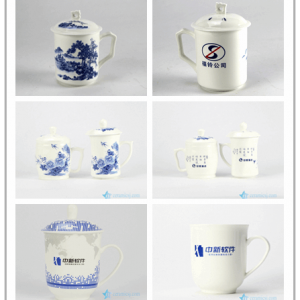 RYDI-DZ Factory low price large production business logo print customize ceramic tea cup