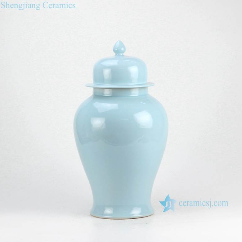 Sky blue contemporary home decor ceramic jar
