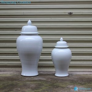 RYKB140-A Matte white interior design ceramic couple jar