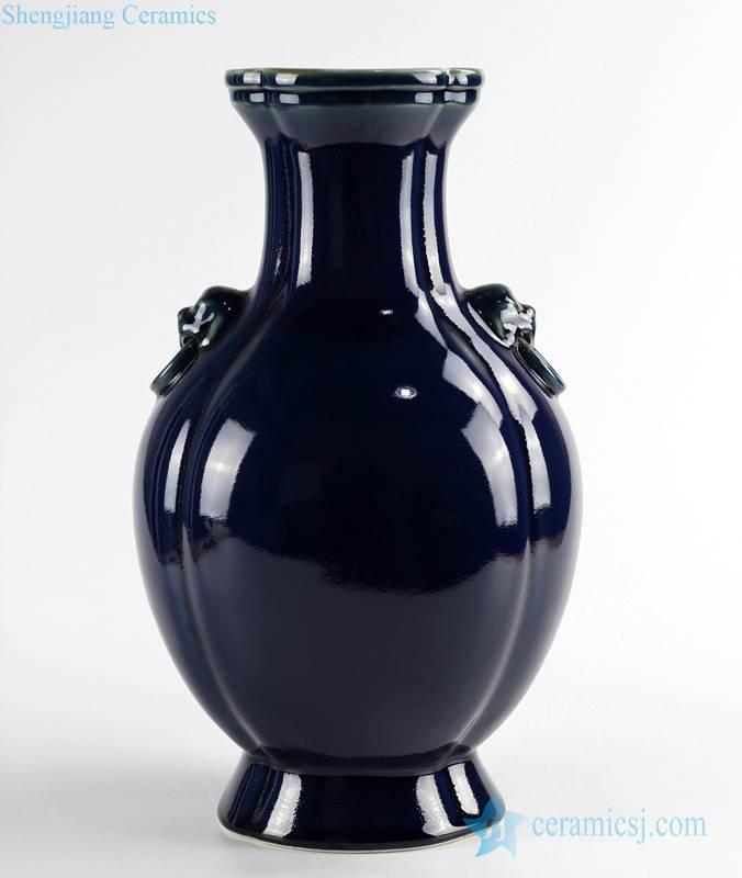 manufacture on line sale dark blue ceramic flower vase