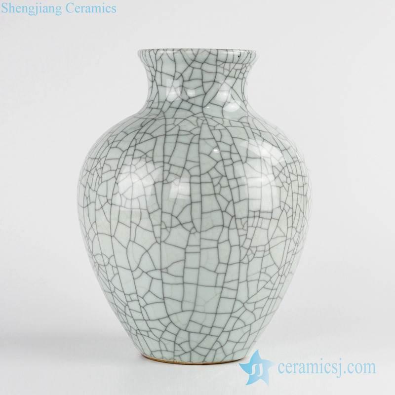 crackle glaze indoor porcelain flower vase