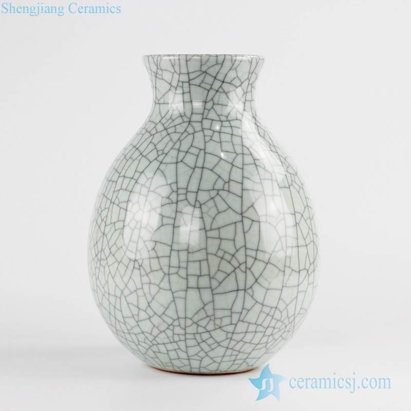 crackle surface design elegant water drop shape ceramic flower vase