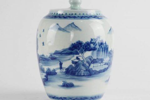 RZCC08 Wholesale price oriental scenic pattern sealed lid ceramic mini jar