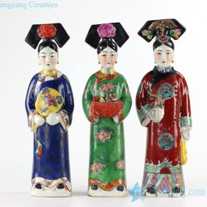 RZKC11 three maids in an imperial palace ceramic sculpture