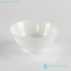 RZKF01 Glossy white ceramic bowl for daily use or business customize