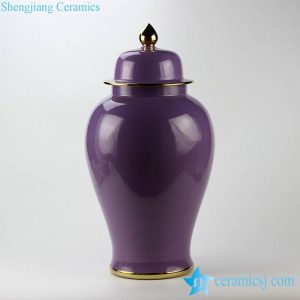 RYKB112-l Lavender feel elegant purple color JDZ China interior design ceramic ginger jar