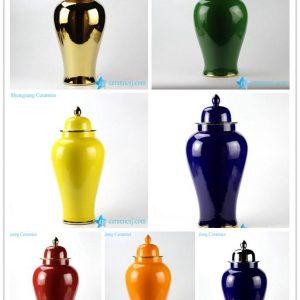 RYKB132-G/H/L/J/K/L/I Tall beautiful color Pantone color bespoke ceramic ginger jar