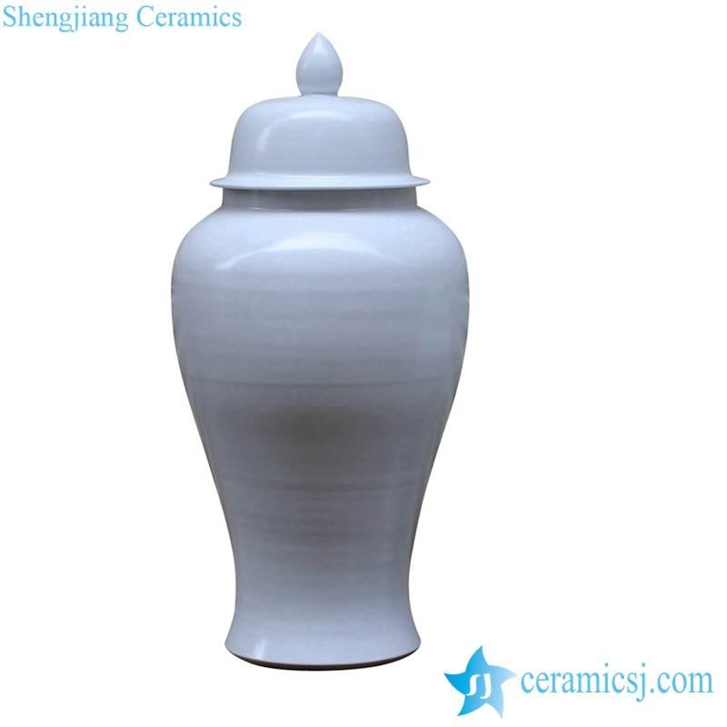 large white solid color ceramic ginger jar