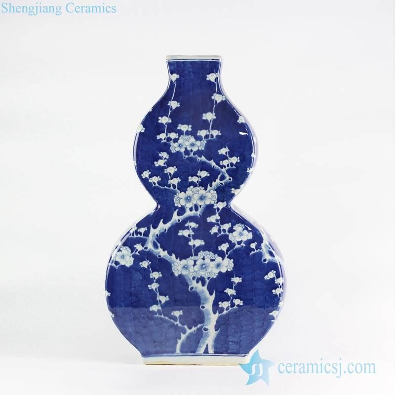 Flat gourd shape creative European ornament porcelain vase
