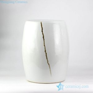 RYNQ199 hand paint branch pattern beside couch end table application white ceramic ornament ottoman