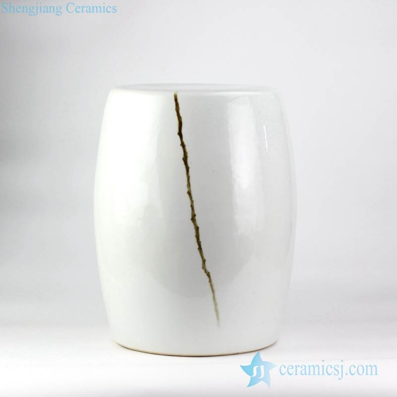 Hand Paint Branch Pattern Beside Couch End Table Application White Ceramic  Ornament Ottoman