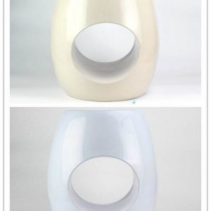 RYIR119-B/C Ring hole design plain color ceramic stools