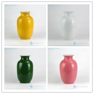 RYNQ20 RYNQ20-B//C/D PLUMP BODY SOLID CANDY COLOR CERAMIC VASES FOR ONLINE SALE
