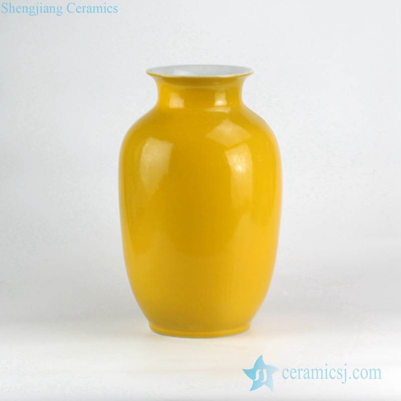 YELLOW CANDY COLOR GLOSSY PORCELAIN VASE FOR ONLINE SALE