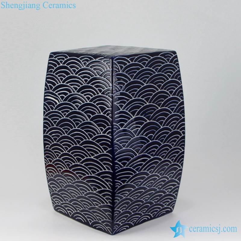 concave-convex sea wave stool