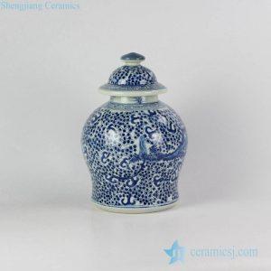 RYVM15-B Asian mysterious historical free hand drawing skill phoenix pattern ceramic decorative jar