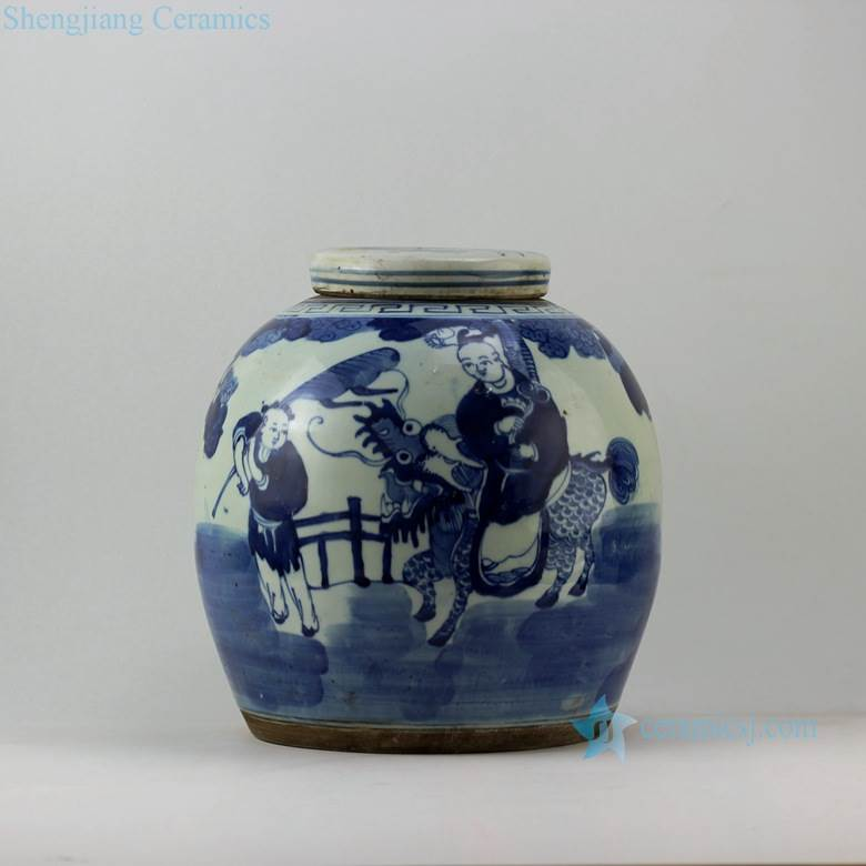 kylin sending fortune to children pattern ceramic jar online sale