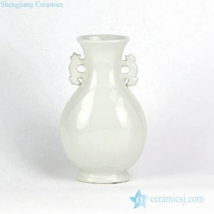 RZGY02-C82 Pure white porcelain ceramic vase with two handles
