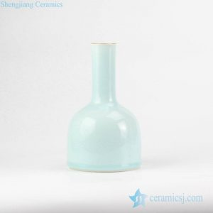 RZJR04 turquoise color pure light green mallet shape ceramic flower vase
