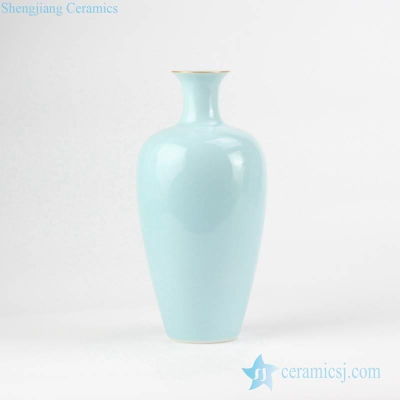 Willow leaf shape solid color china vase