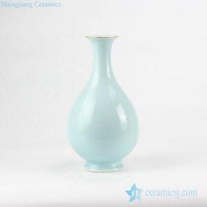 RZJR07 Mint green refined pear shape ceramic artificial flower vase