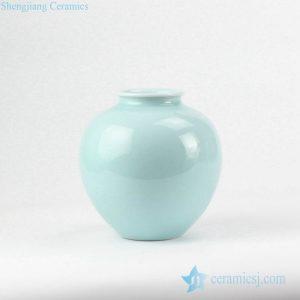RZJR10 Celadon glaze pomegranate shape round porcelain pot