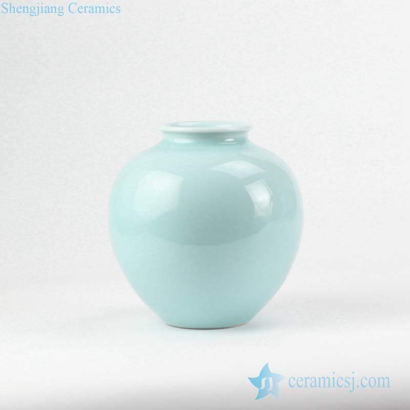 Celadon glaze pomegranate shape round porcelain pot