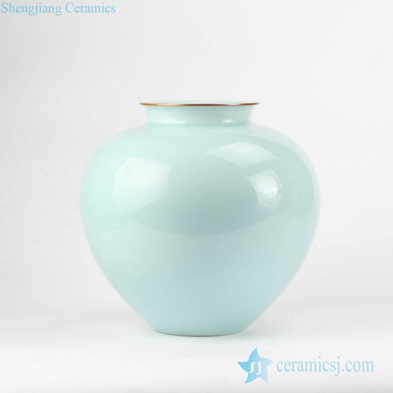 Pomegranate shape celadon glaze ceramic vase