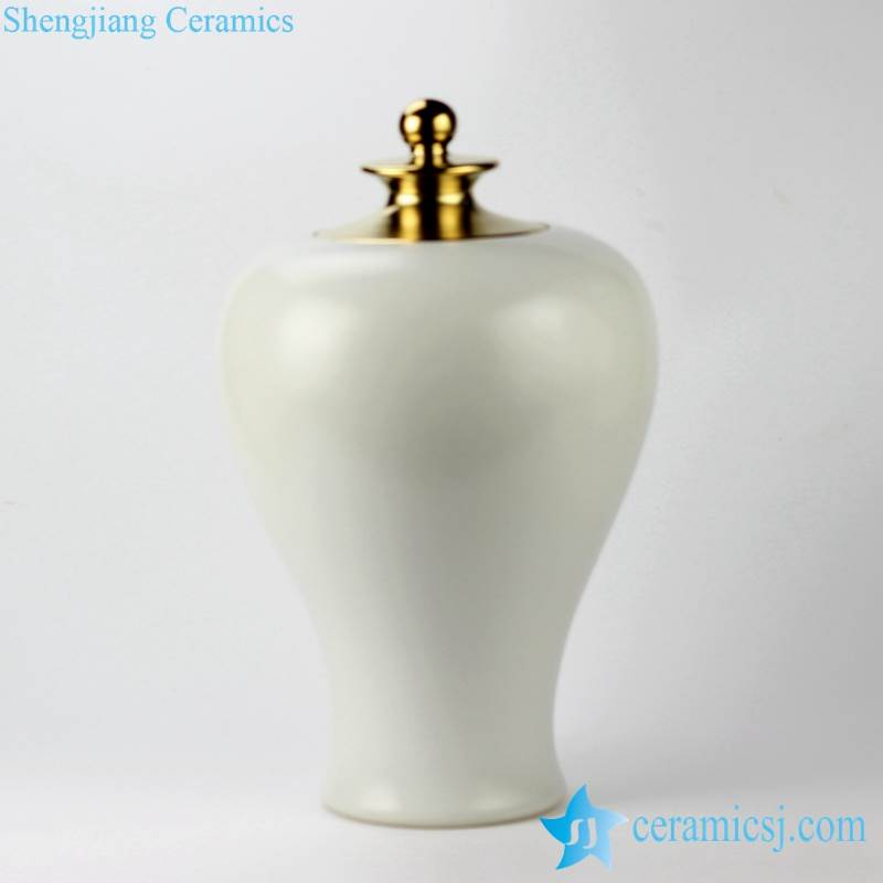 Pristine white matt surface simple chic interior design ceramic jar