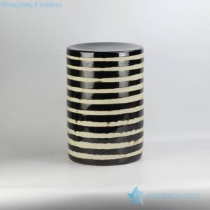 RYNQ198 Chocolate stripe cake design modern home decor relaxation room porcelain seat